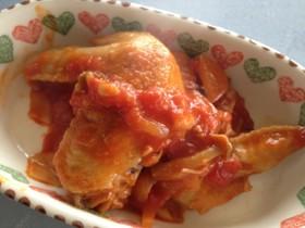 鶏手羽先の塩麹きのこトマト煮