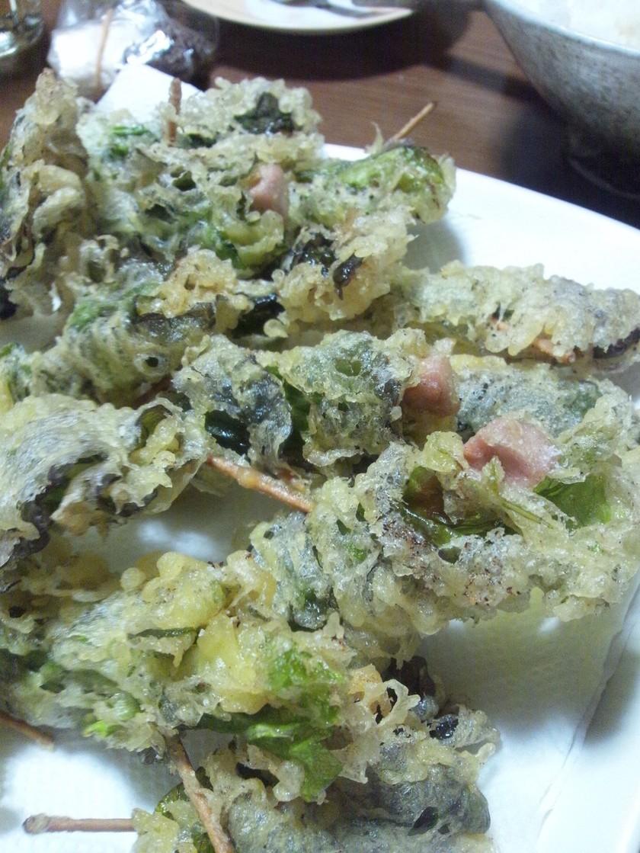 リーフレタスのまきまき天ぷら