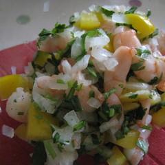 エビとパプリカのメキシカン風サラダ