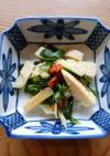 【薬膳レシピ】ニラとタケノコの炒め