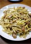 筍と牛蒡と豚肉の炒め物(竹筍牛蒡炒肉絲)