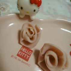 魚肉ソーセージでバラの花✿