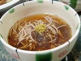 ダイエット☆柚子胡椒風味小さなもずく蕎麦