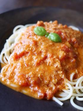蟹味噌のコクがたまらん!◆カニのトマトクリームパスタ◆