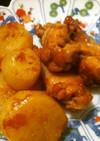 薩摩芋と鶏肉の梅干煮