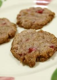 米粉☆苺のクッキー