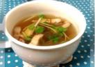 簡単すぎ♪もずくとベーコンのスープ