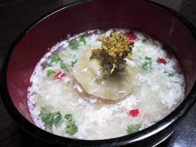 コールラビの鶏ひき肉詰め中華スープ煮