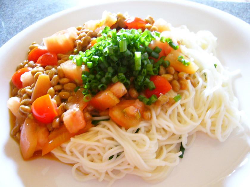 ☆トマトと納豆の素麺☆