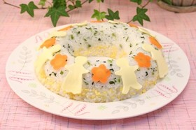 青菜と玉子のケーキ寿司