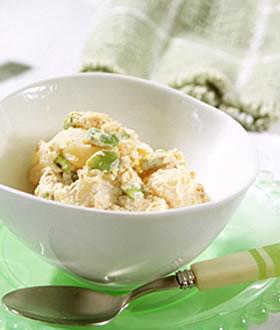 じゃがいもと枝豆の味噌チーズクリーム