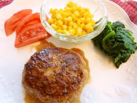 大好評♪豆腐と豚挽き肉のハンバーグ