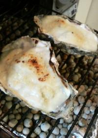 魚焼きグリルde 牡蠣のグラタン