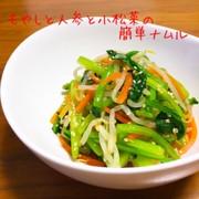 もやしと人参と小松菜の簡単ナムルの写真