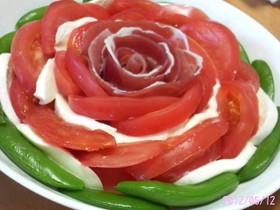 母の日、パーティーに、お花トマトサラダ