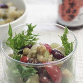 ごぼうとお豆のサラダ