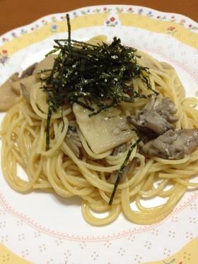 乳化も簡単 筍と塩麹の和風スパゲッティ