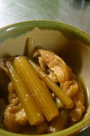 ふき、油揚げの煮物 簡単レシピの写真