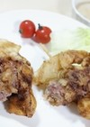 パイン牛肉巻き串揚げガーリックソース