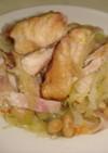 チキンとキャベツのバター蒸し