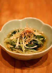 【簡単副菜】水菜とえのきたけの煮びたし