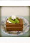 チョコクリームのショートケーキ