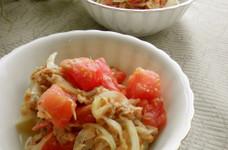 *トマトと玉ねぎのハニマスサラダ*