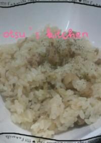 鶏肉とごぼうのピラフ~炊飯器