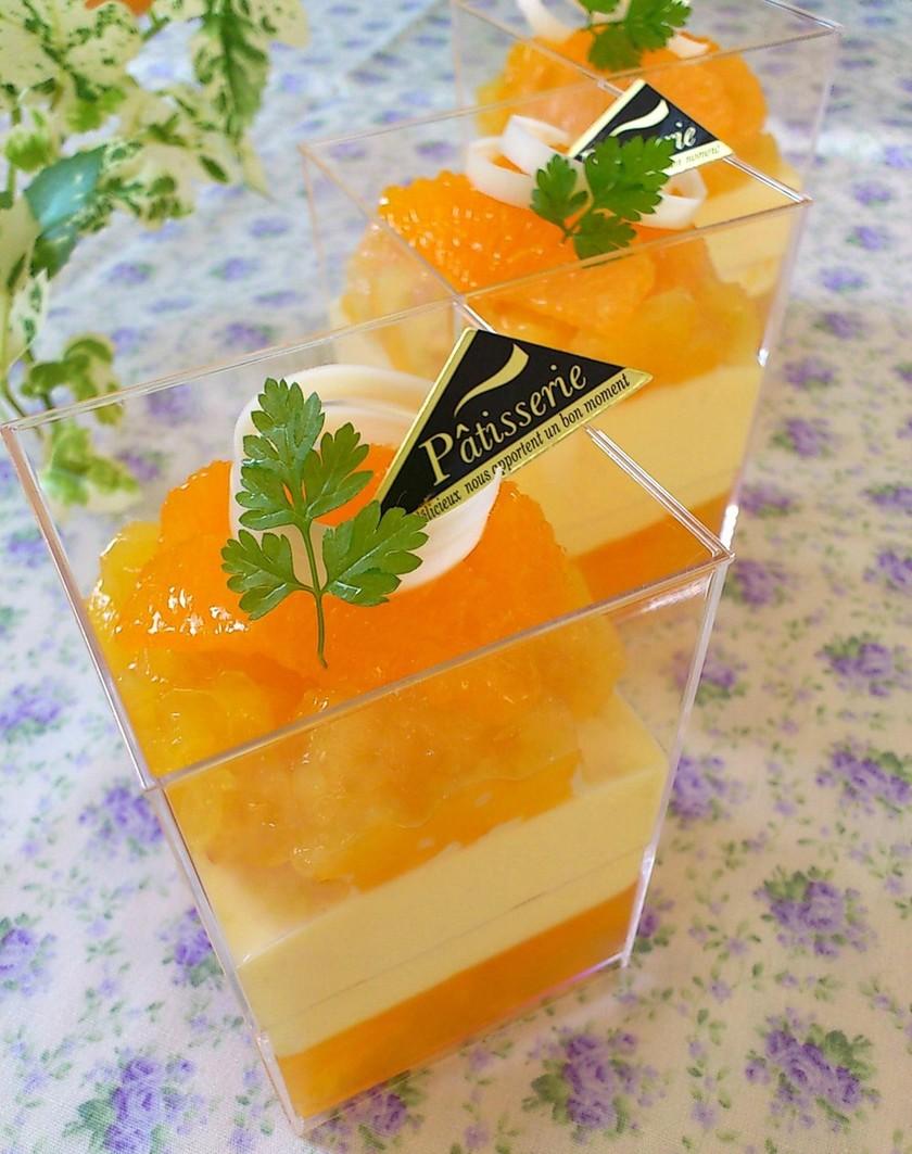 オレンジのヨーグルトムース