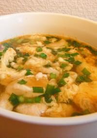 鶏胸肉の酸辣湯
