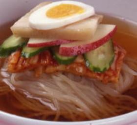 おうちで韓国冷麺
