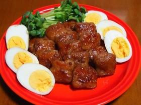 豚バラスライスでクルクル角煮