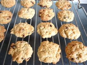 オーツ麦とレーズンのクッキー