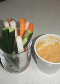 野菜スティック  みそマヨディップ