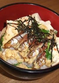 ワカサギ甘露煮de玉子丼