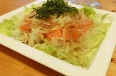 お家で本格☆新玉ねぎとお刺身の中華サラダ