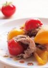 パプリカと豚肉のミニトマト炒め