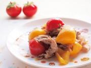 パプリカと豚肉のミニトマト炒めの写真