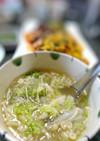 白菜とエノキの春雨スープ