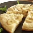 バナナの 蒸し揚げパンケーキ