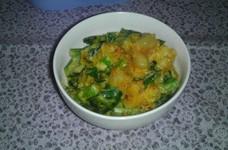 小松菜ポテトのキムチ風