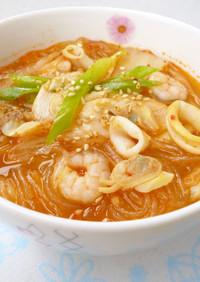 キムチ&シーフードMix入り☆春雨スープ