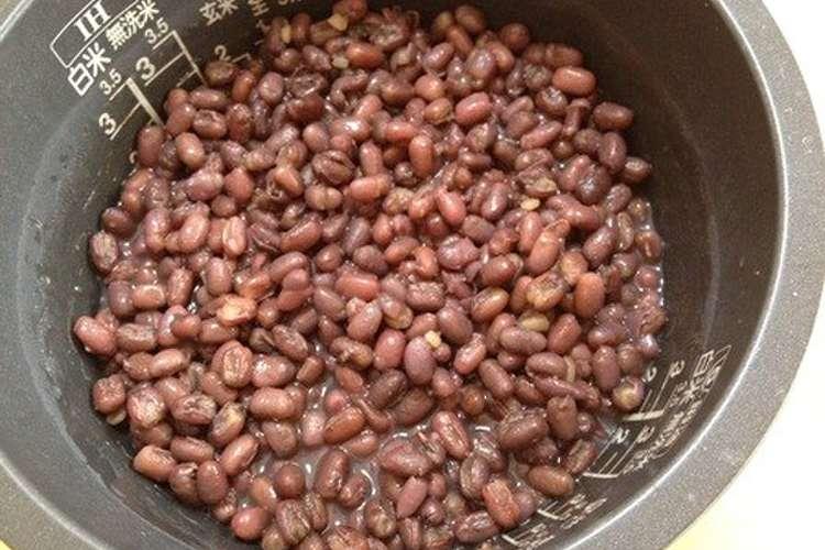小豆 の 煮 方 炊飯 器