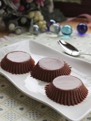 寒天デザート☆玉子なしで濃厚チョコプリンの写真