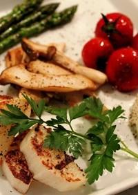 焼き野菜とカマンベールチーズの盛り合わせ