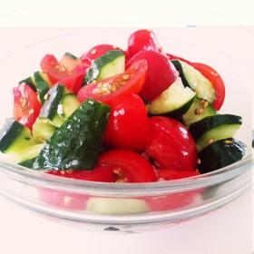 塩麹トマトきゅうり