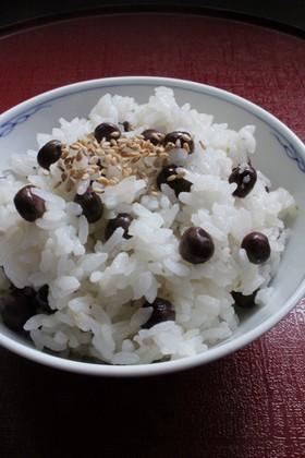 鍋炊き塩麹柚子こしょうde赤えんどうご飯