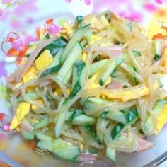 簡単大好き☆母のソースマヨ春雨サラダ