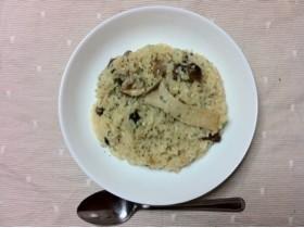 キノコのリゾット 炊飯失敗した米でもOK