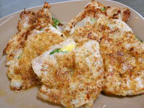 豚ロース簡単バジルチーズパン粉焼き